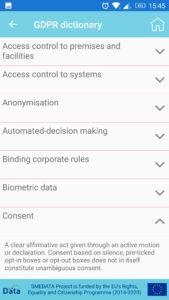 GDPR приложение In Your Pocket