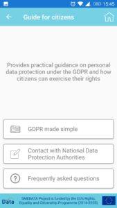 GDPR in your pocket - приложение